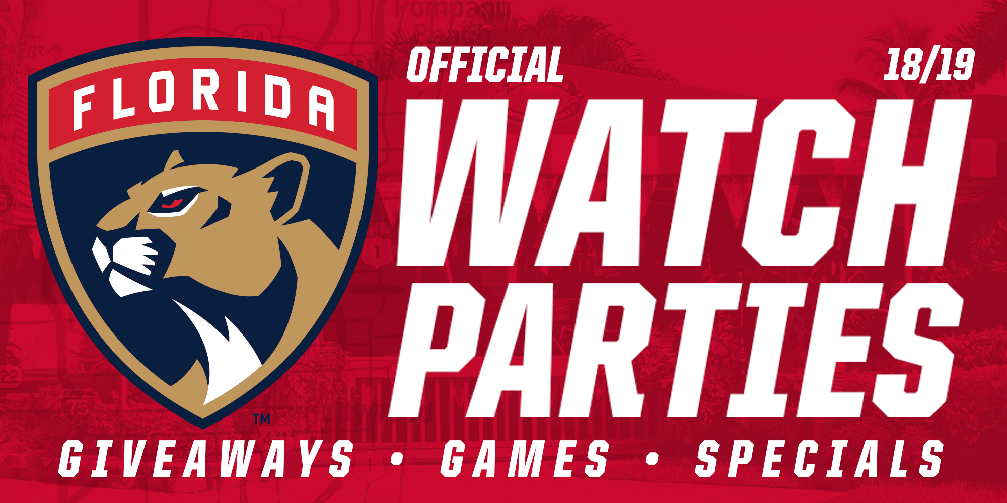Florida Panthers Official Watch Parties logo